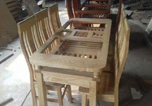 Thanh lý bàn + 6 ghế ăn gỗ sồi Nga