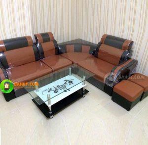 Sofa góc da mới 99%