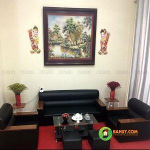 Sofa da Nhật màu đen SFB-D-11
