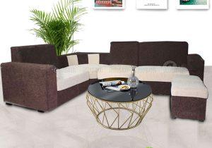Sofa nỉ cafe trắng SFL-N-07