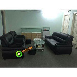 Thanh lý sofa da giá rẻ, mới 98%