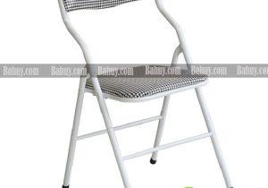 Ghế gấp chân sắt lưng ngắn caro GG2
