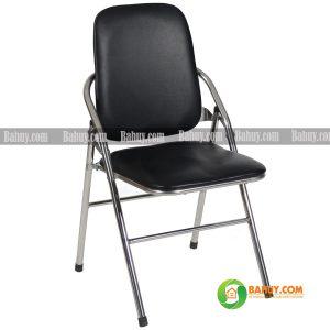 Ghế gấp chân inox lưng dài GG3 màu đen