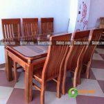 Bộ bàn ăn gỗ xoan tự nhiên