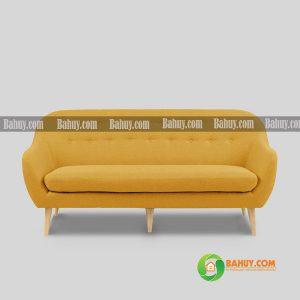 Sofa nỉ màu vàng hiện đại, mới 99%