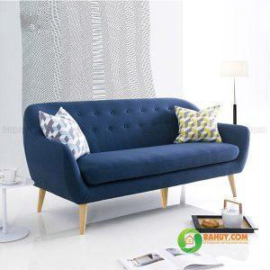 Sofa băng nỉ màu xanh 1m6 SFB-N-11