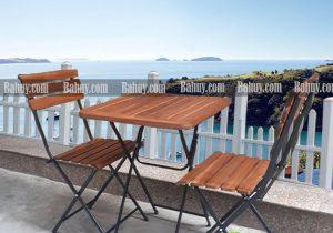 Bàn cafe gỗ gấp màu nâu Fansipan BCF