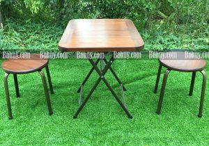 Ghế đôn thấp mặt gỗ DONGT