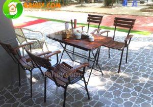 Gợi ý các mẫu bàn ghế cho không gian quán café ngoài trời