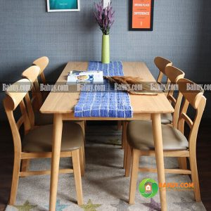 Bộ bàn ăn Mango 6 ghế giá rẻ