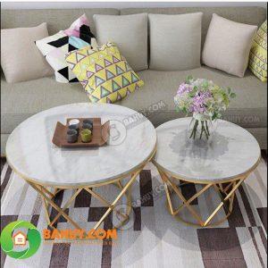 Thanh lý bàn trà sofa trắng giá rẻ, mới 95%