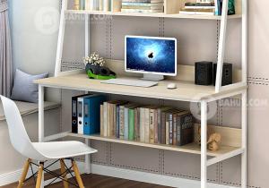 Những tiện lợi từ bàn làm việc tại nhà kèm giá sách