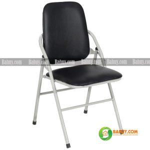Ghế gấp chân sắt lưng dài GG4 màu đen