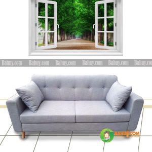 Sofa băng nỉ 1m6 tháo giặt SFB-N27-02