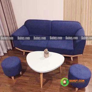 Sofa băng nỉ đệm liền yếm gỗ 1m8 SFB-N-28