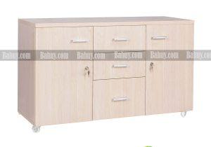 Các mẫu tủ phụ có thể dễ dàng kết hợp với bàn giám đốc sơn PU