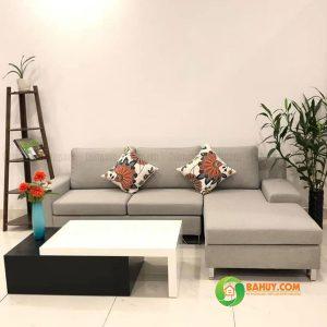 Sofa góc nỉ chữ L màu xám SFL-N-27