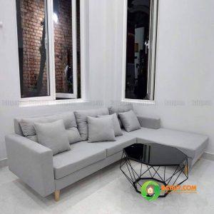 Sofa góc nỉ chân gỗ L SFL-N-26