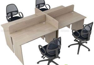 Cụm bàn 4 người tiết kiệm không gian, ngồi làm việc hiệu quả