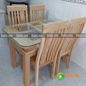 Bộ bàn ghế ăn gỗ sồi Nga 4 người BA02
