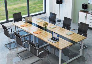 Thiết kế bàn họp có sọc ngang, đẹp, tinh tế