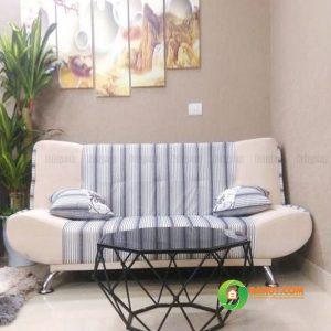 Sofa giường nỉ kẻ SFG-04