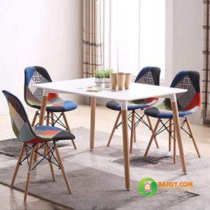 Bàn ghế cafe BCFV-1206 màu trắng