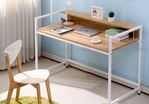 Setup không gian làm việc tại nhà với bàn làm việc chân sắt giá rẻ