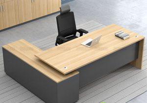 Dùng bàn giám đốc liền tủ phụ có bất tiện không