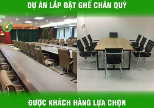 Dự án lắp đặt các mẫu ghế chân quỳ Ba Huy được khách hàng lựa chọn