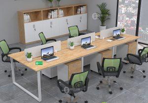 Bàn họp chân sắt chữ U hiện đại kết hợp mọi không gian văn phòng